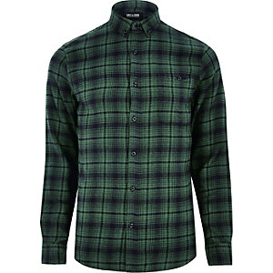 Green Only & Sons check shirt