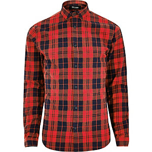 Red Only & Sons check shirt