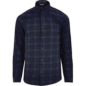 Navy Only & Sons casual check shirt