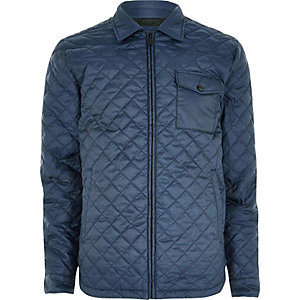 Navy Only & Sons quilted jacket