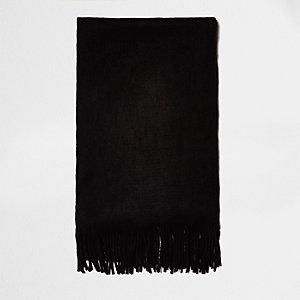 Black brushed scarf