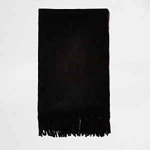 Black brushed scarf