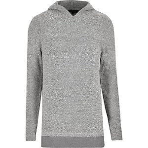 Light grey layered hoodie
