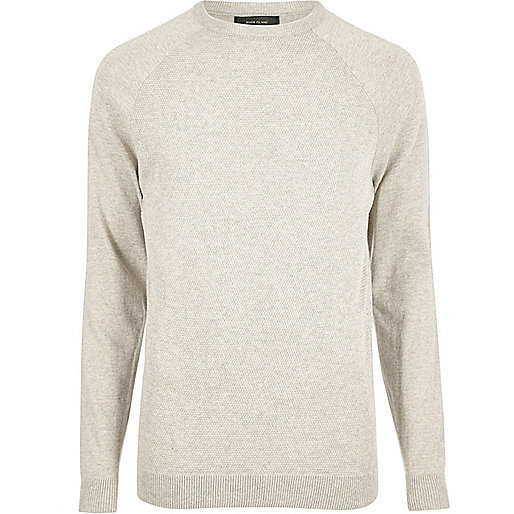 Stone mesh front sweater