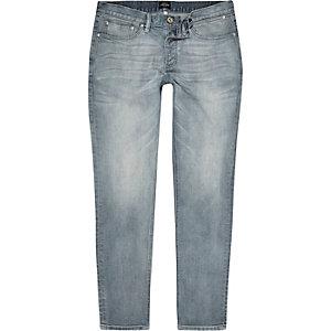 Chalky blue Side skinny jeans