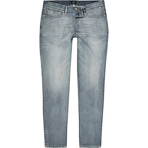 Chalky blue Side skinny jeans