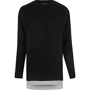 Black layered jumper