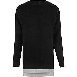 Black layered sweater