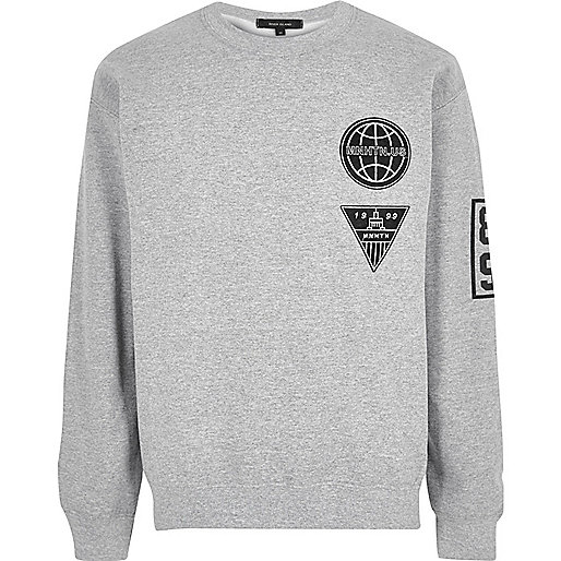 Grey Manhattan badge sweatshirt