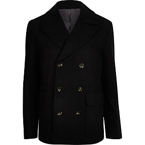 Navy smart peacoat