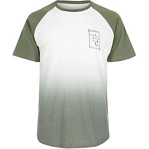 T-shirt blanc à imprimé délavé