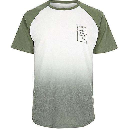 White faded print T-shirt