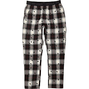Ecru shadow skull print pyjama trousers