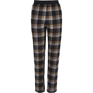Light brown check pyjama trousers
