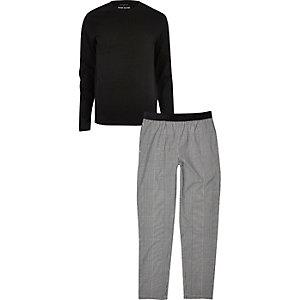 Black and grey branded pyjama set