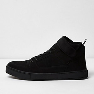 Black strap collar hi tops