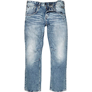 Light blue wash boxy jeans