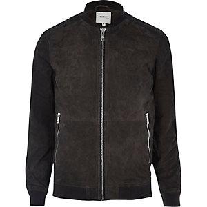 Grey Jack & Jones Premium suede jacket