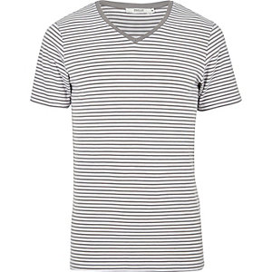Grey striped Jack & Jones Premium T-shirt