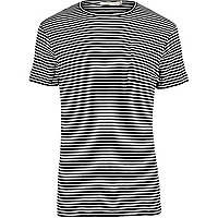 T-shirt Jack & Jones rayé bleu marine de qualité supérieure