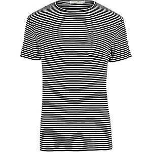 Navy stripe Jack & Jones Premium T-shirt