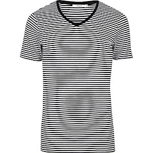 Black stripe Jack & Jones V-neck T-shirt
