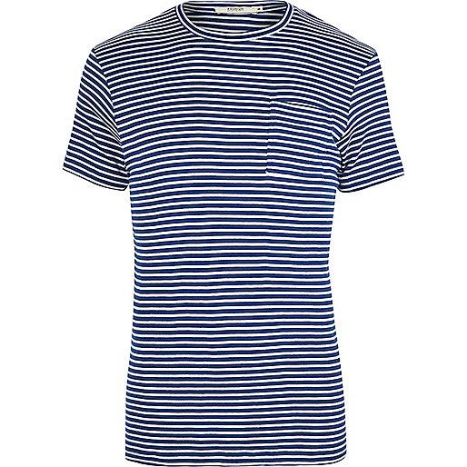 Blue stripe Jack & Jones slim fit T-shirt