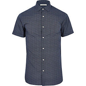 Blue patterned Jack & Jones Premium shirt