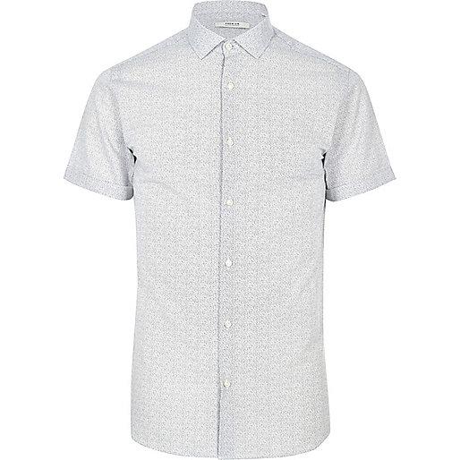 Chemise blanche imprimée Jack & Jones Premium
