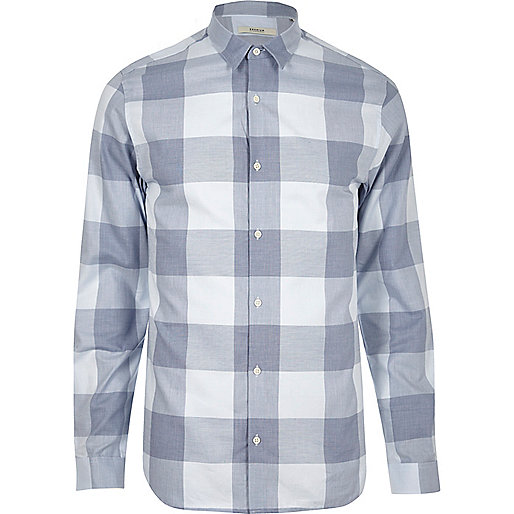 Blue checked Jack & Jones Premium shirt