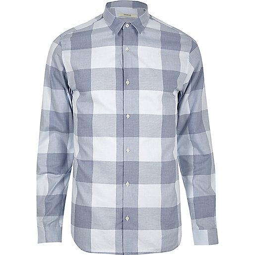 Chemise Jack & Jones Premium à carreaux bleue