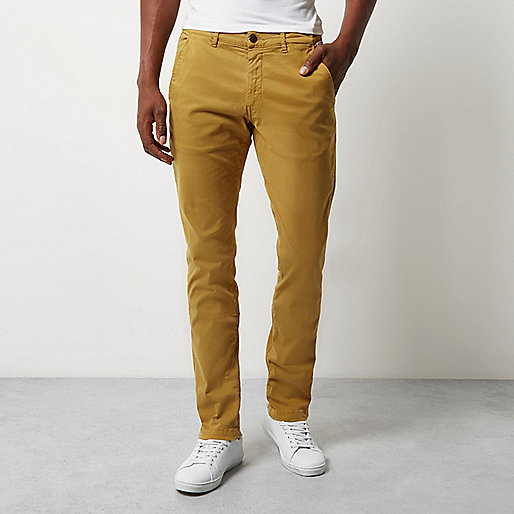 Franklin & Marshall – Gelbe Skinny Fit Hose