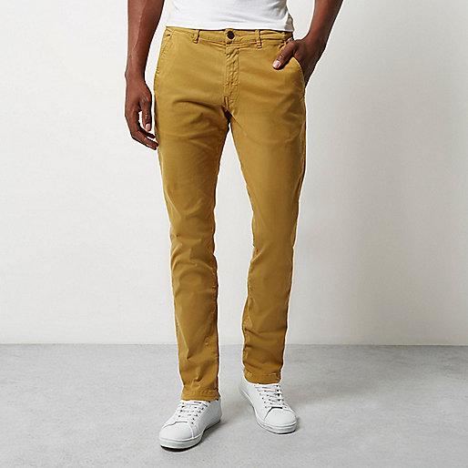 Yellow Franklin & Marshall skinny pants
