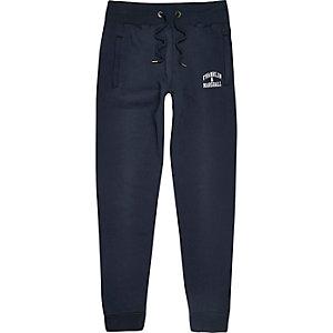 Pantalon de jogging avec logo Franklin & Marshall bleu marine