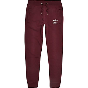 Dark red Franklin & Marshall logo joggers