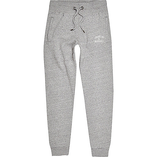 Grey marl Franklin & Marshall logo joggers