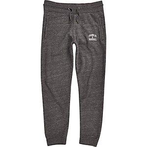 Dark grey Franklin & Marshall logo joggers
