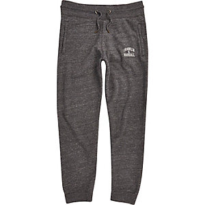 Pantalon de jogging Franklin & Marshall gris foncé à logo