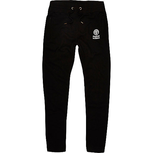 Black Franklin & Marshall logo joggers