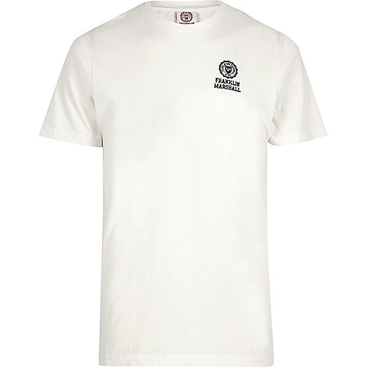 T-shirt Franklin & Marshall écru