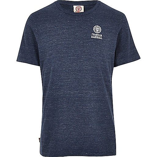 Blue Franklin Marshall crew neck T-shirt