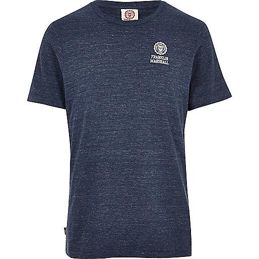 T-shirt ras du cou Franklin & Marshall bleu
