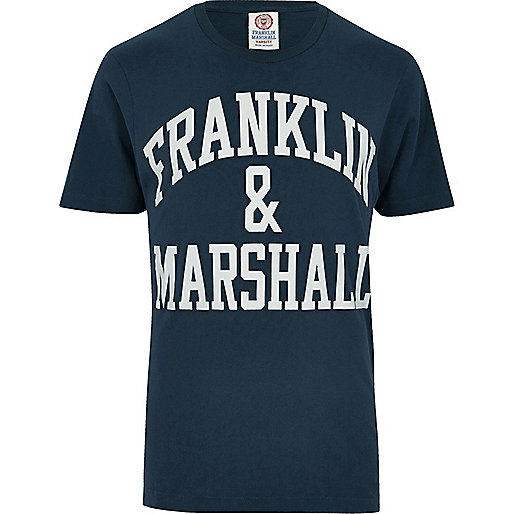 Navy Franklin & Marshall print T-shirt