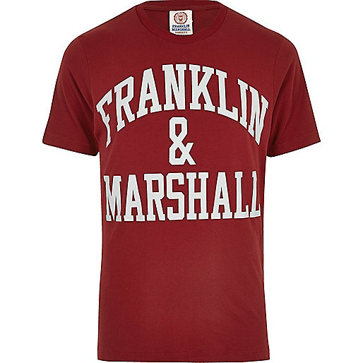 Red Franklin & Marshall print T-shirt