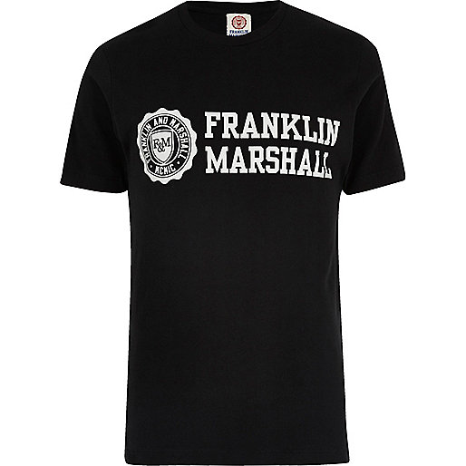 Franklin & Marshall – Schwarzes T-Shirt
