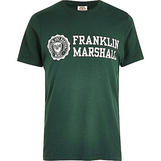 T-shirt Franklin & Marshall vert