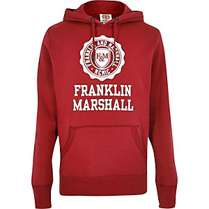 Red Franklin & Marshall print hoodie