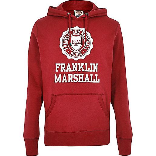 Franklin & Marshall – Roter, bedruckter Hoodie