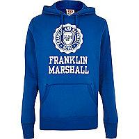 Sweat à capuche bleu Franklin & Marshall