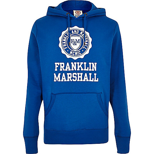 Blue Franklin & Marshall print hoodie